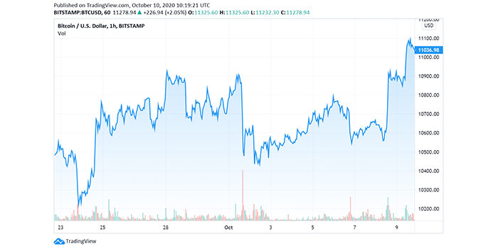 The Price of Leading Cryptocurrency Finally Broke $11k Resistance Level